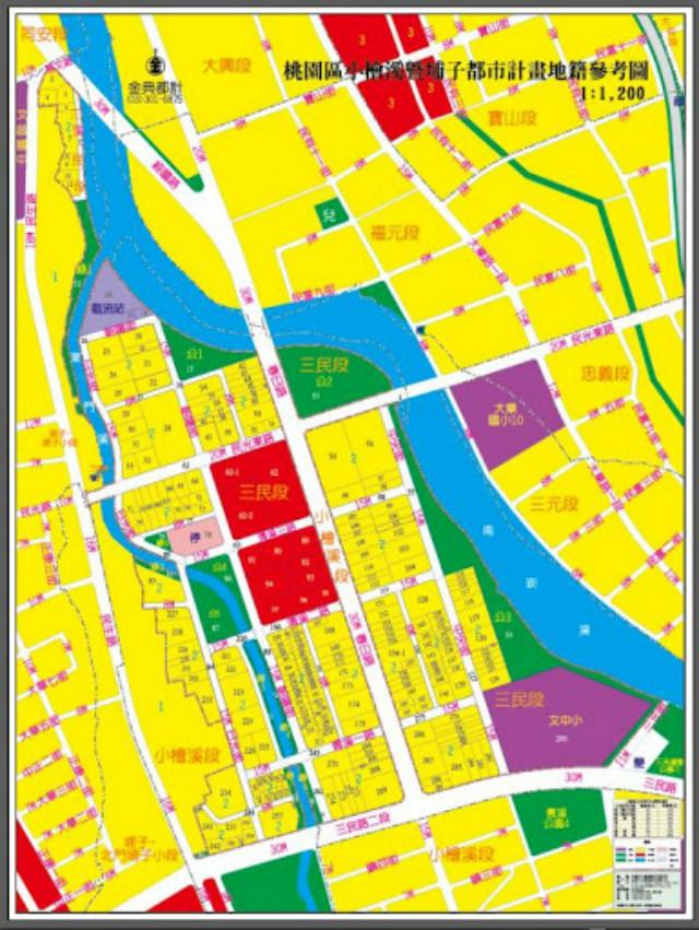 小檜溪重劃區 三角窗建地,桃園市桃園區三民段